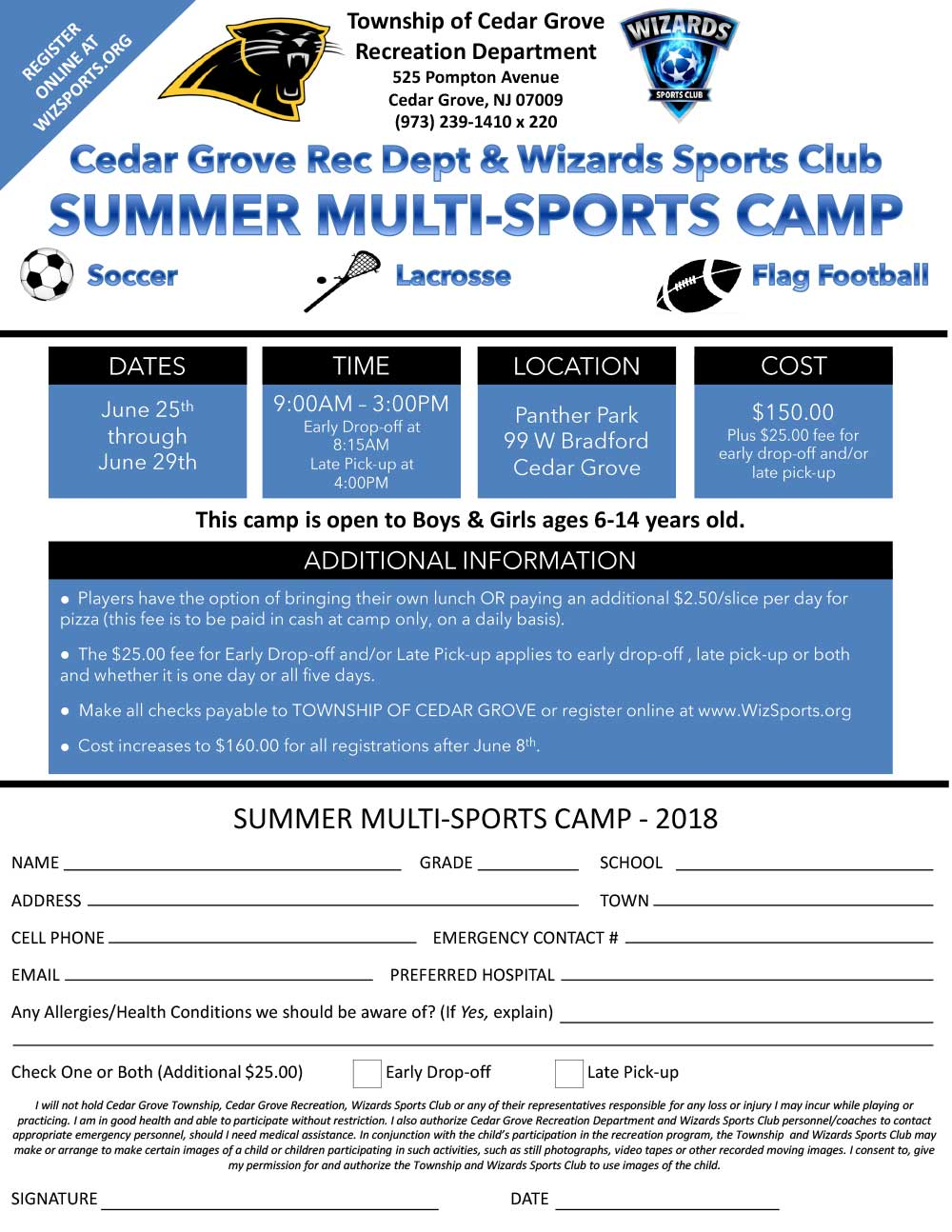 Summer 2018 Multi-Sports Camp